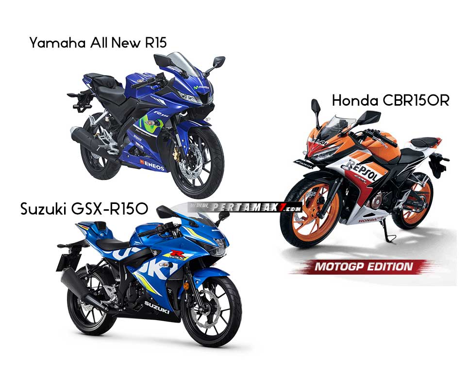 Penjualan Honda CBR150R VS Yamaha All New R15 VS Suzuki GSX-R150