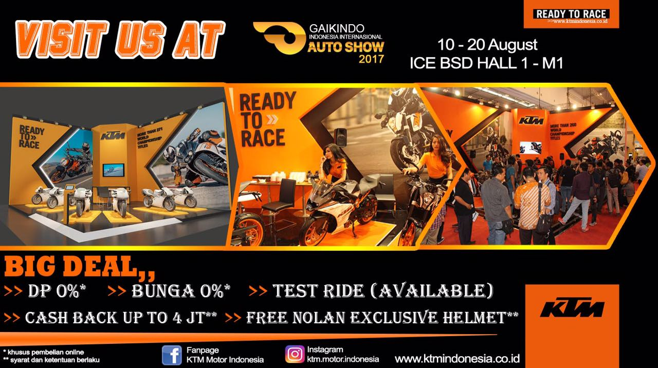 Promo KTM Indonesia di GIIAS 2017