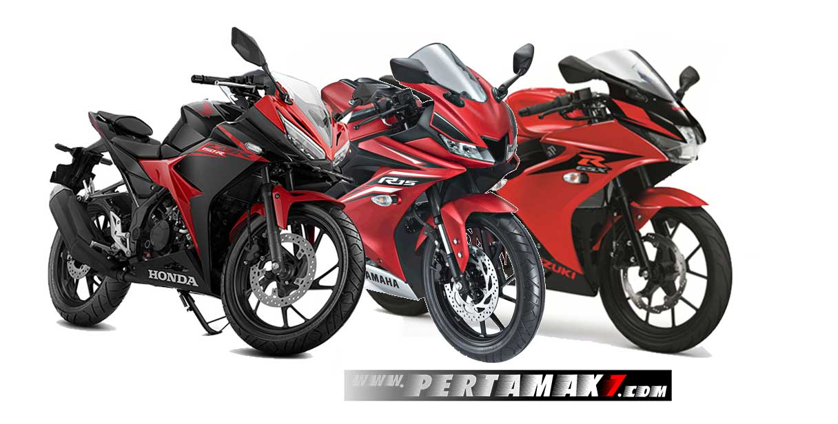 Tampak Depan Honda CBR150R VS Yamaha All New R15 VS Suzuki GSX-R150