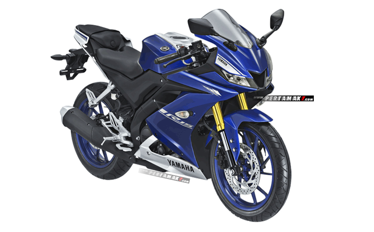 Yamaha All New R15 Biru Upside Down Warna Emas