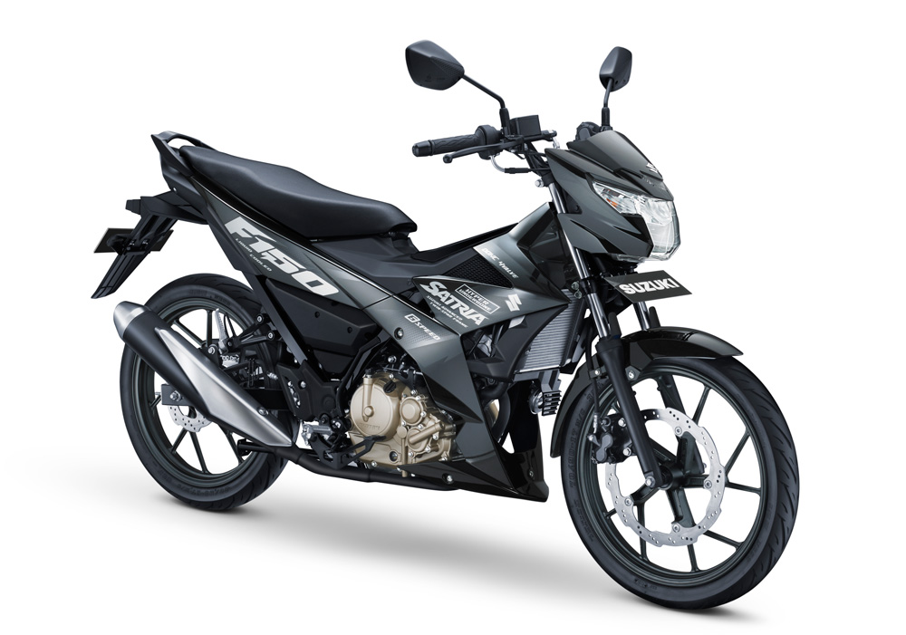 All New Suzuki Satria F150 Injeksi Warna Hitam New Black