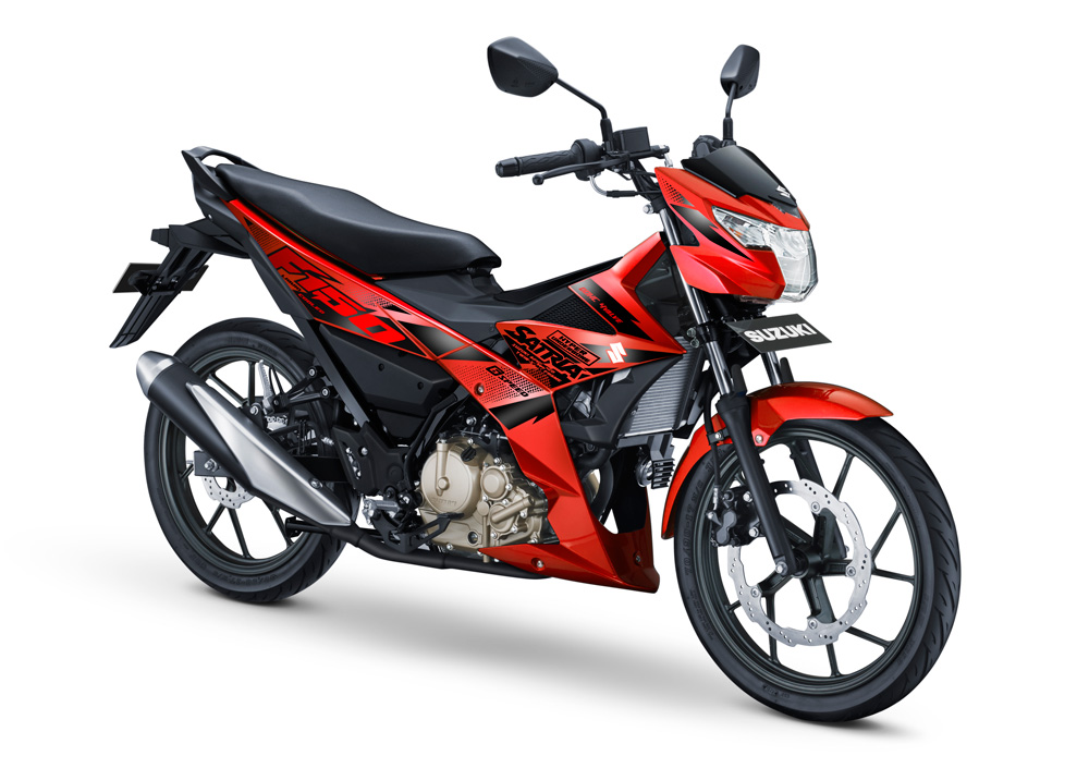 All New Suzuki Satria F150 Injeksi Warna Merah Stronger red