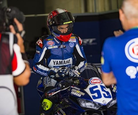Galang Hendra Pratama riding Yamaha YZF-R3 di World Supersport 300 seri Portugal