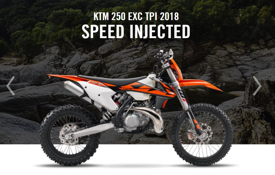 KTM 250 EXC TPI 2018 Speed Injected
