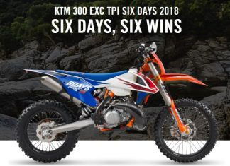 KTM 300 EXC TPI SIX DAYS SIX WINS 2018