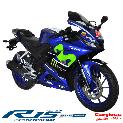 Modifikasi Yamaha All new R15 Custom Maverick Vinales 25