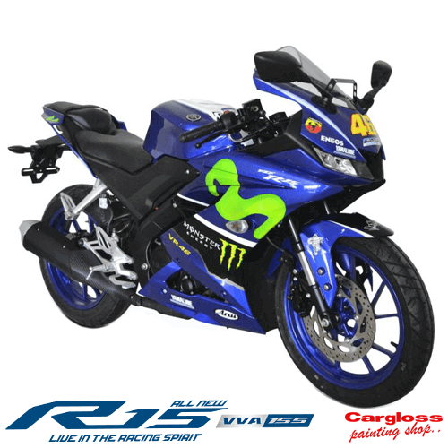 Modifikasi Yamaha All new R15 Custom valentino Rossi 46