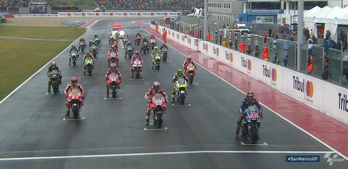 Starting Grid MotoGP Misano 2017 Wetrace