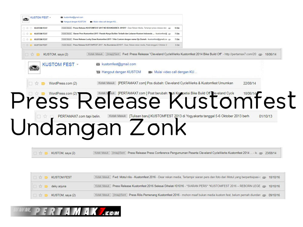 Press Release Kustomfest Tanpa Undangan