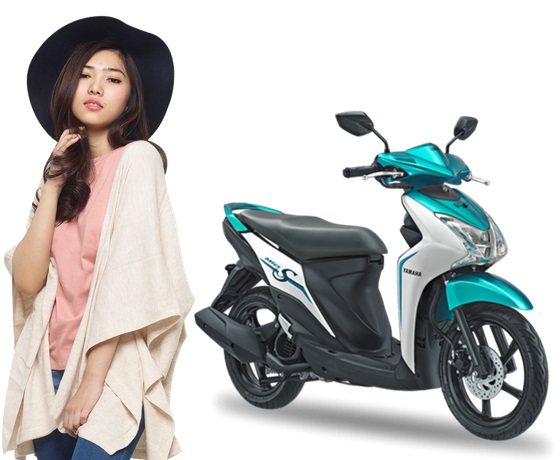 Yamaha Mio S Warna Putih Strong Green