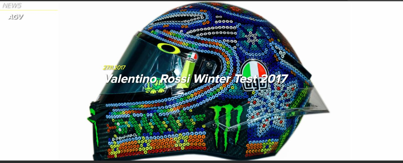AGV PISTA GP R ROSSI Winter Test 2017