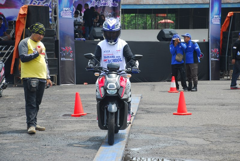 All New X-Ride 125 digunakan di final nasional Yamaha Goes to School Safety Riding Competition