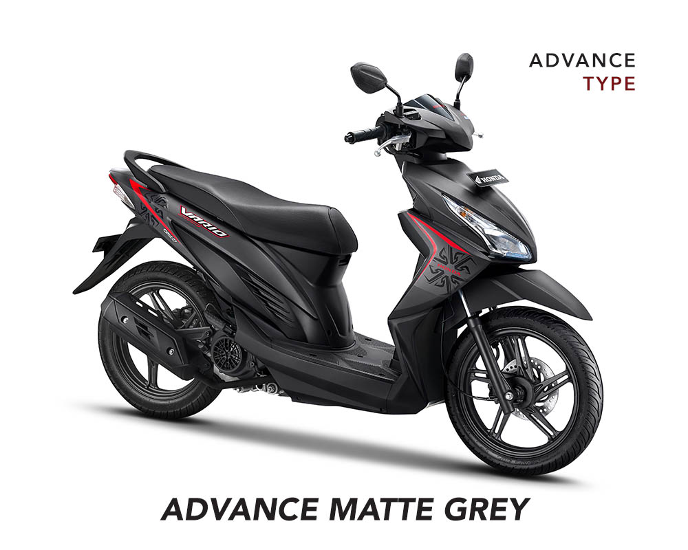 Honda Vario 110 eSP Facelift 2017 Advance Type Warna Matte Grey