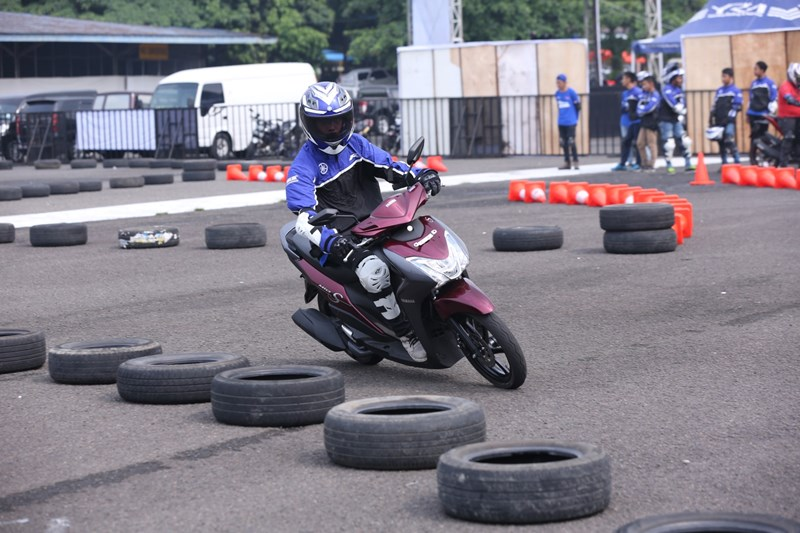 Mio S digunakan di final nasional Yamaha Goes to School Safety Riding Competition