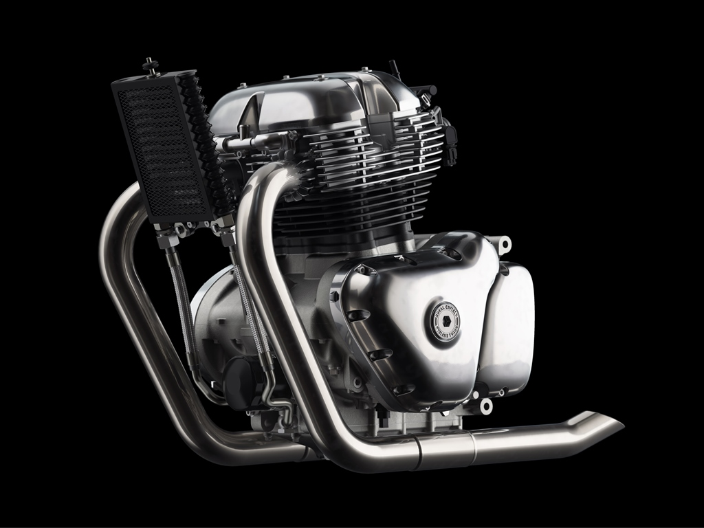 Royal Enfield 648cc Twin Engine LHS view