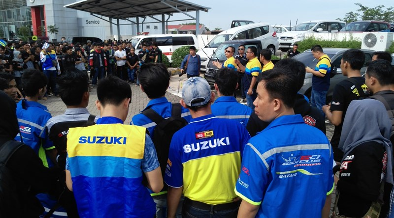 Suzuki Bike Meet Batam - briefing city touring