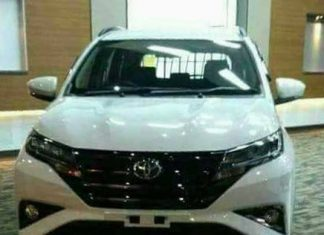 Tampak depan Toyota All new Rush 2018