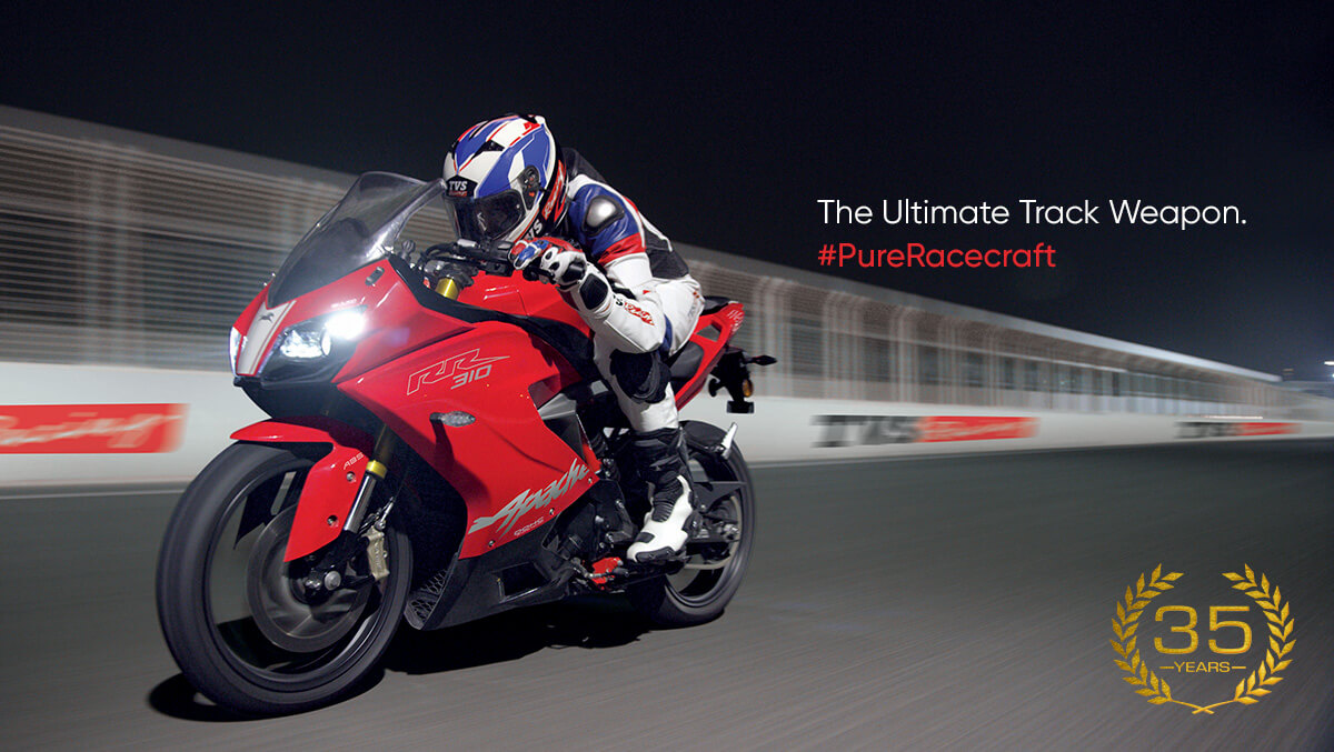 Banner TVS Apache RR310 India