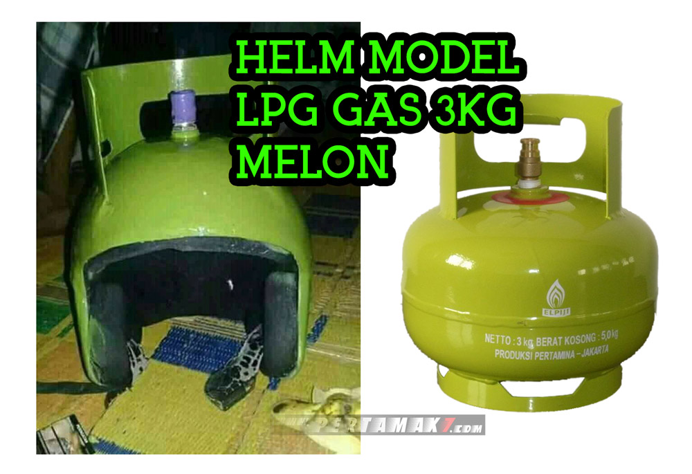 HELM MODEL GAS ELPIJI LPG 3KG melon