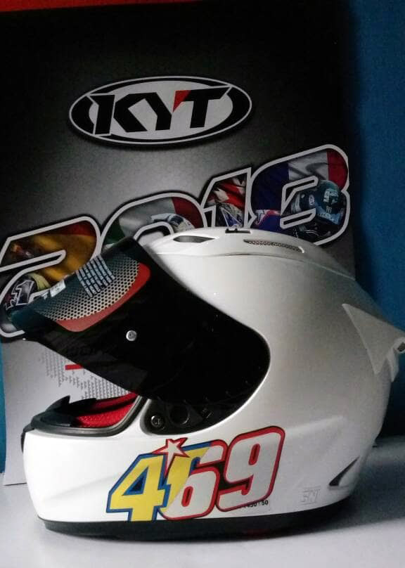 KYT RC7 Flat Visor Smoke Buka chazrib custome