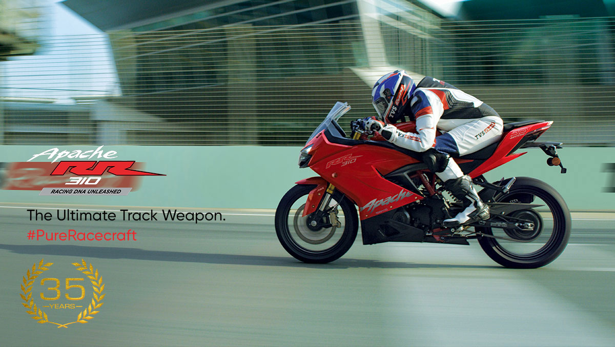 Pembuatan TVS Apache RR 310 The Ultimate Track Weapon PureRacecraft