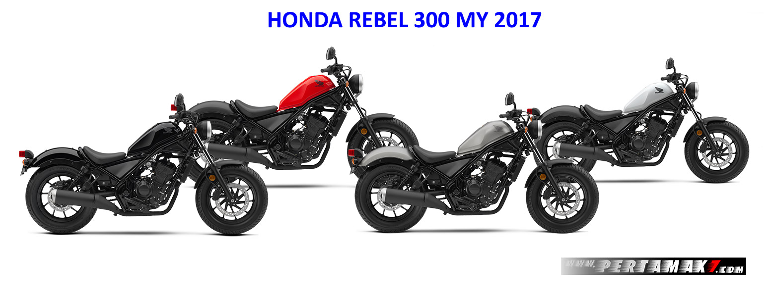Warna Honda Rebel 300 Versi 2017