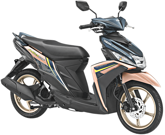 Yamaha MIO M3 125 AKS SSS Facelift 2018 Warna Admired Peach Blue