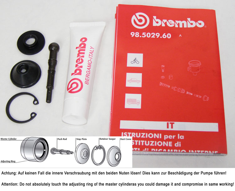 Brembo Repair kit for PR16-19 Forged telgesparts