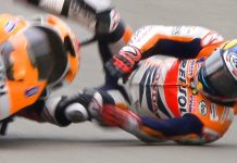 Dani Pedrosa Crash Q2 Assen 2013 Air Bag
