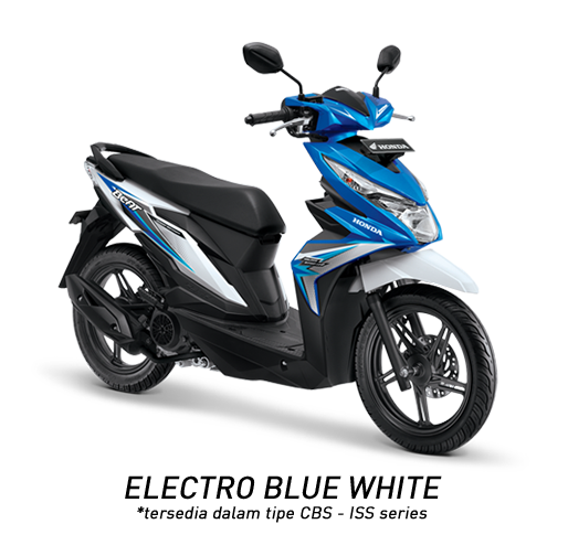 Honda Beat 2018 electro blue white