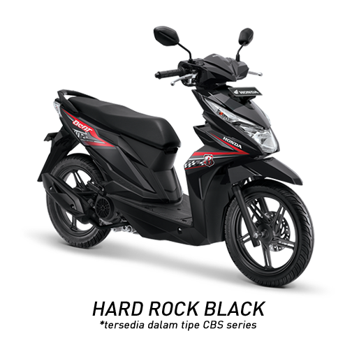 Honda Beat 2018 hitam Hard Rock Black
