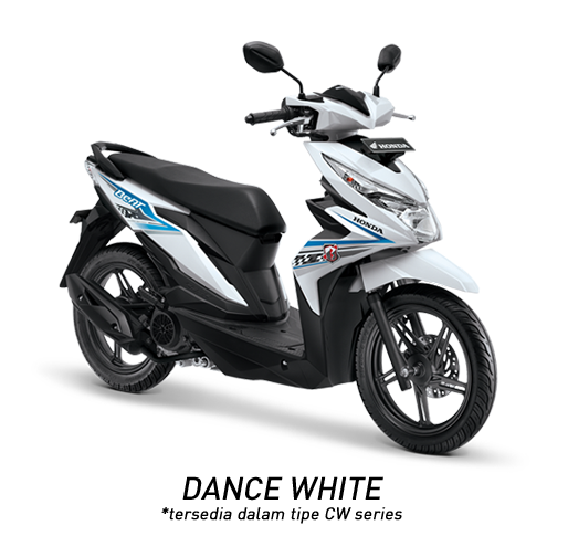 Honda Beat 2018 putih Dance white