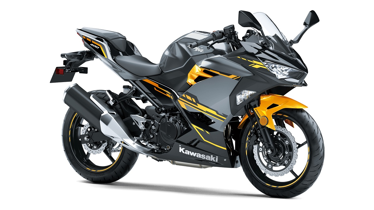Kawasaki Ninja 400 FI USA ABS COLORS PEARL SOLAR YELLOW PEARL STORM GRAY EBONY