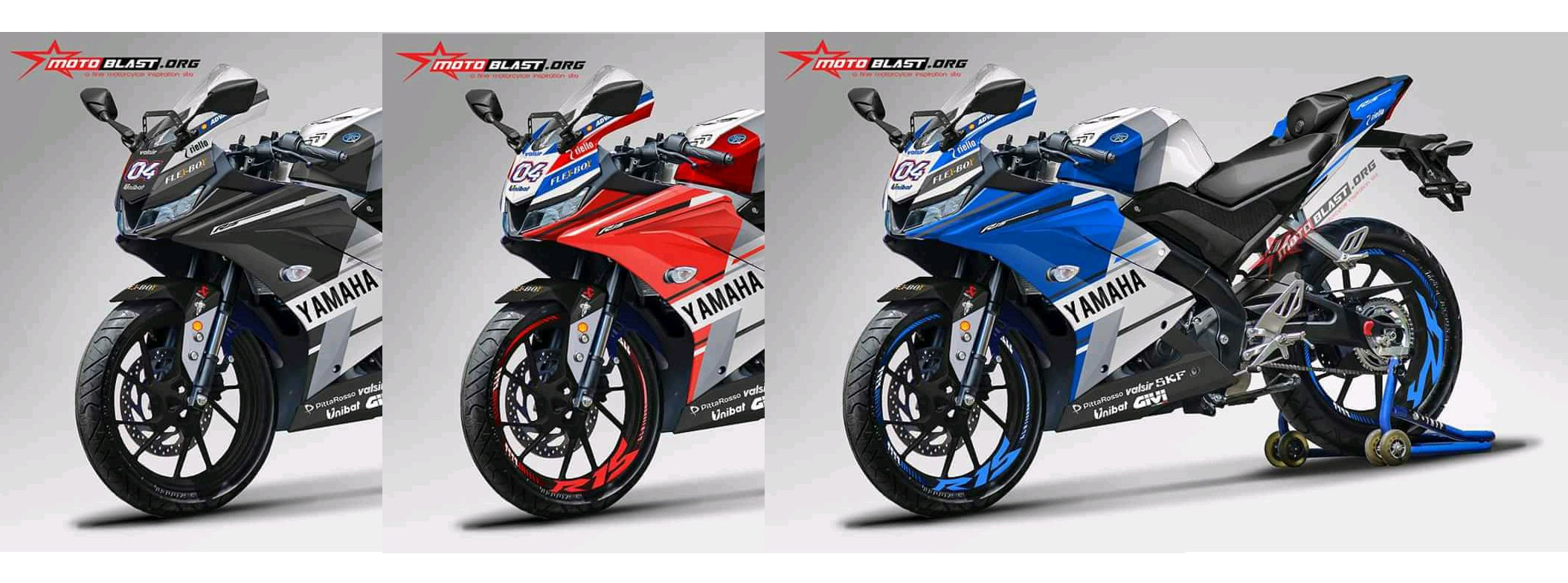 Yamaha All new R15 Livery Ducati GP.18