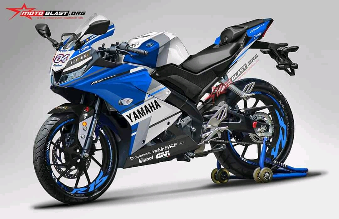 Yamaha All new R15 Livery Ducati GP.18 MotoGP 2018 Biru