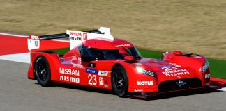 The Nissan GT-R LM NISMO is the ultimate Nissan GT-R, the purest expression of innovation that excites. Competing in LM P1, the premier class of world sports car racing, Nissan's Le Mans car is like no other car before it. A truly global effort, the GT-R has been created by a team of carefully selected experts in Japan, the U.S. and Europe. Unlike other LM P1 cars, the GT-R's V6 3.0-liter twin turbo gasoline engine sits in the front of the front-wheel-drive car, while the hybrid power is harvested from the front driveline to augment acceleration.