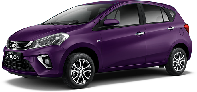 Daihatsu All new Sirion 2018 Warna ungu mystical purple