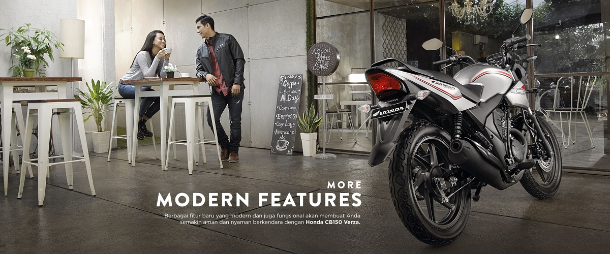 All New Honda CB150 Verza Modern Features