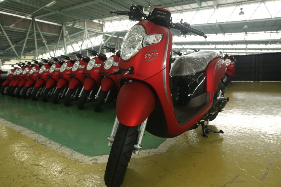 Honda Scoopy Stylish Red Matte