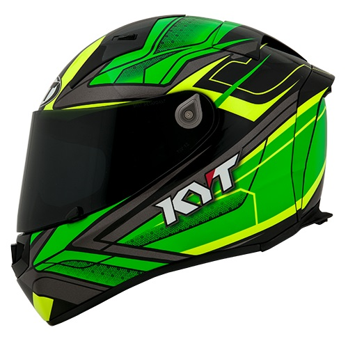 KYT Thunderflash Bolt - Green Yellow