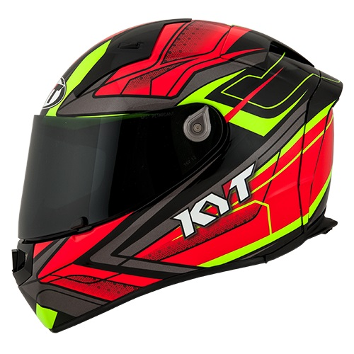 KYT Thunderflash Bolt - Red Yellow Fluo