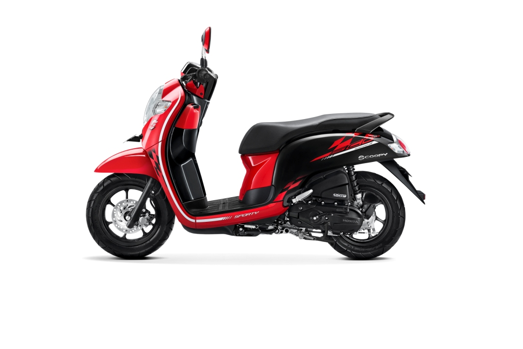 Warna Baru Honda Scoopy Versi 2018 SPORTY RED