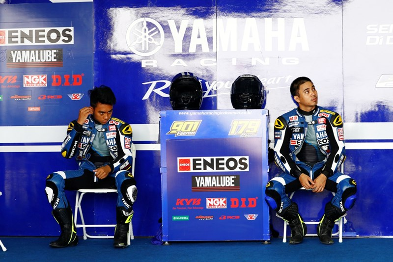Duet tim Yamaha Racing Indonesia, M Faeroz & Richard Tarorehi