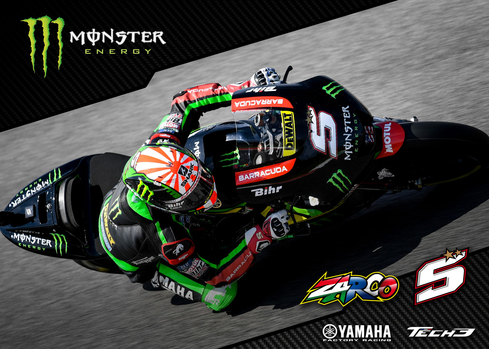 Wallpaper Monster Yamaha Tech3 Johann Zarco