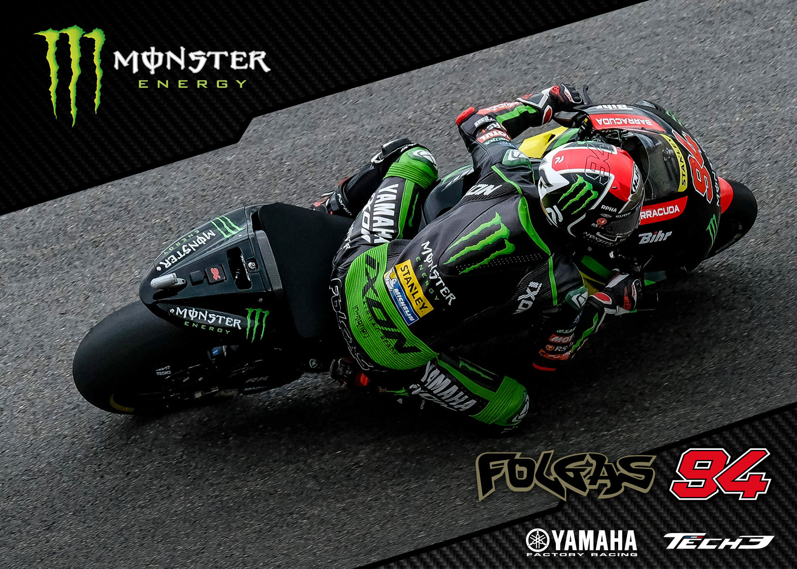 Wallpaper Monster Yamaha Tech3 Jonas Folger 2