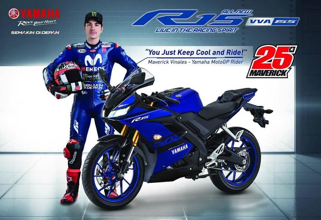 Yamaha All New R15 facelift 2018 upside Down Emas