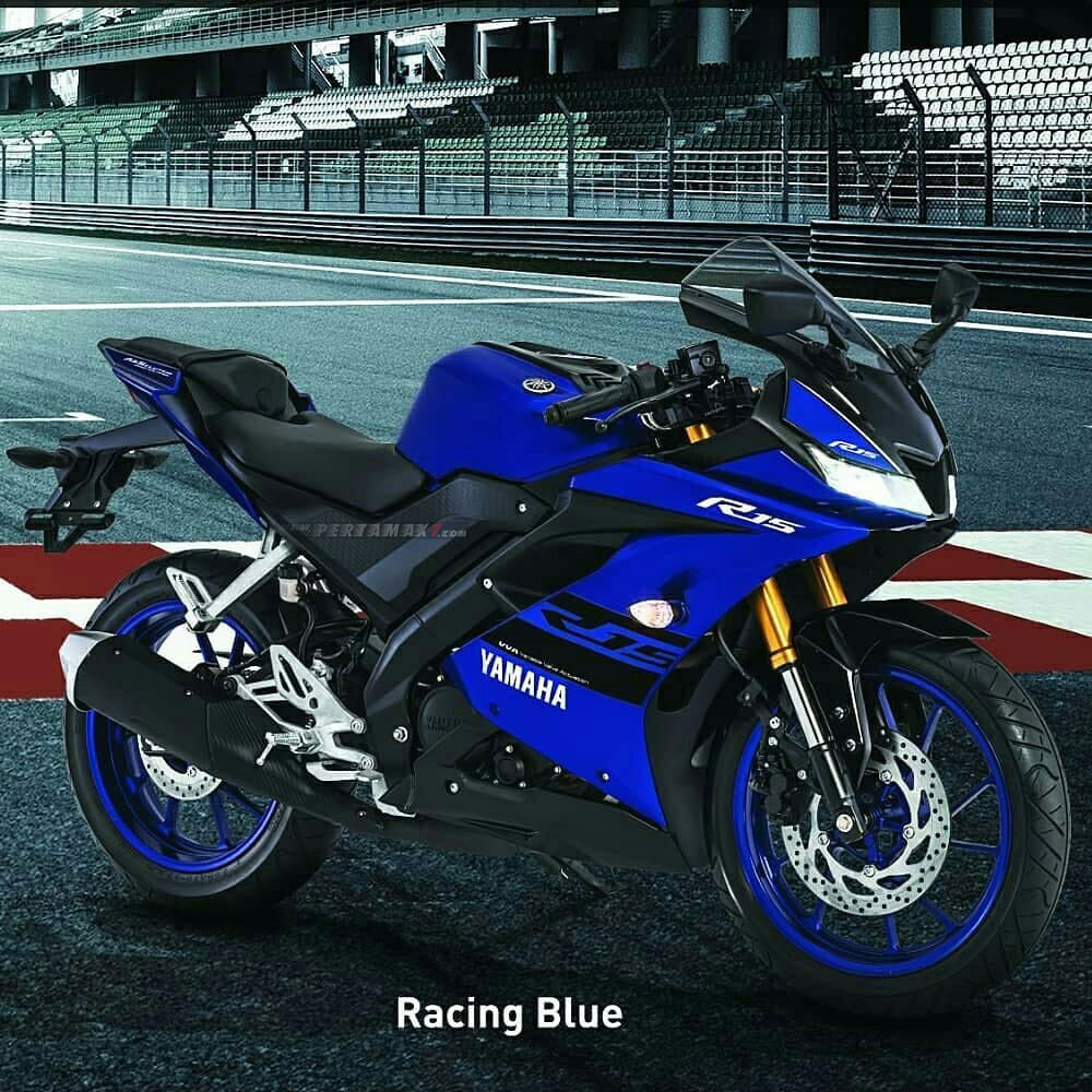 Yamaha All new R15 Warna Biru Racing Blue 2018