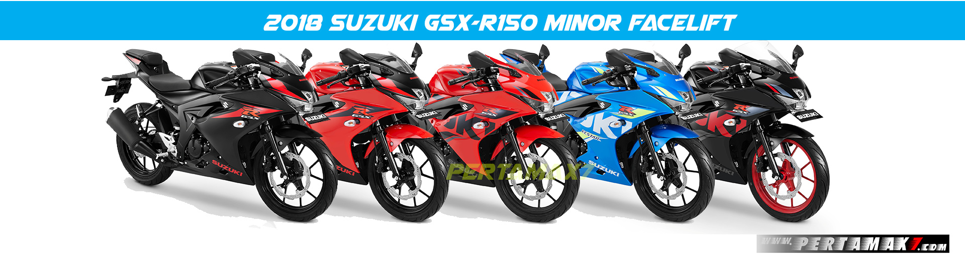 Minor Facelift Suzuki GSX-R150 Striping 2018