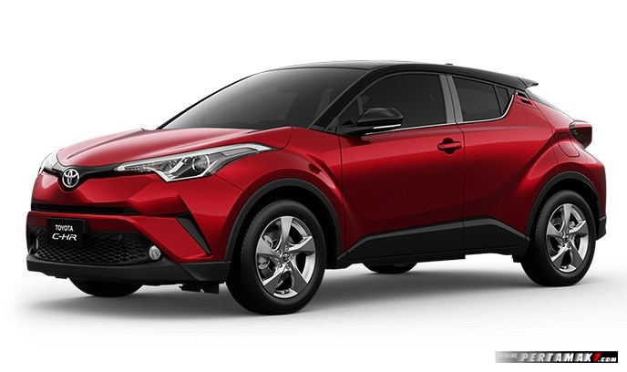 Toyota C-HR warna merah Red Mica With Sporty Black Roof