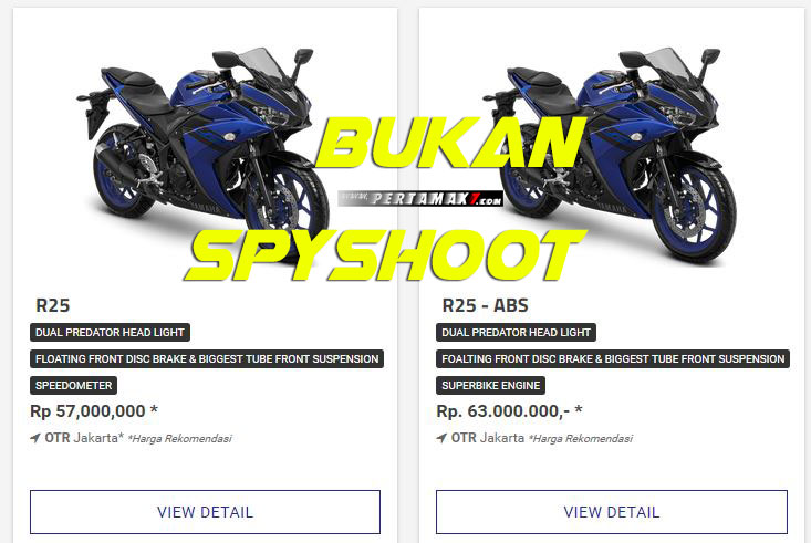 Bukan Spyshoot Yamaha All New R25 Facelift 2018